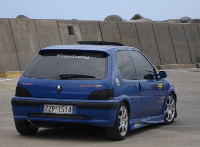 Peugeot 106 Rallye Modified: click to zoom picture.