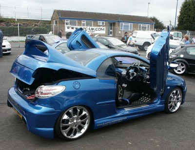 Peugeot 206 CC Modified: click to zoom picture.