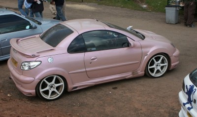 Peugeot 206 CC Pink Modified: click to zoom picture.