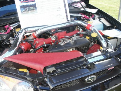 Subaru Impreza 500BHP Engine: click to zoom picture.
